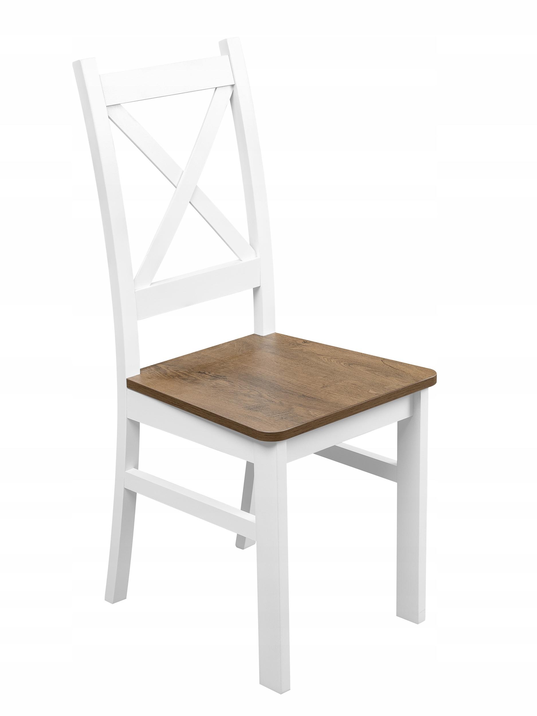 Krzesło Krzyżak białe dąb lefkas