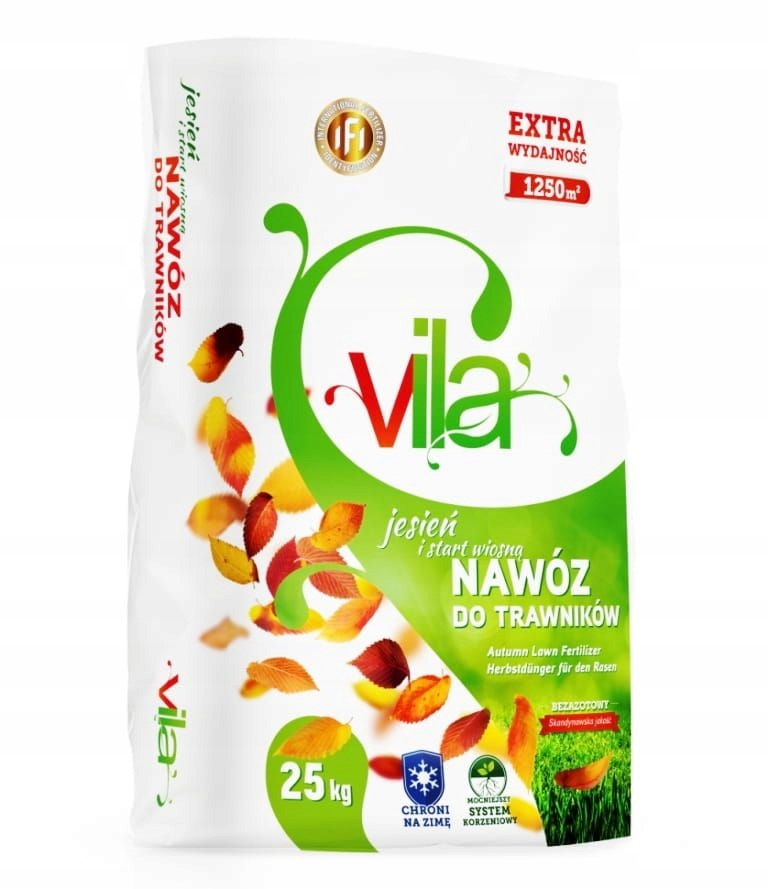 Осеннее удобрение Yara Vila для газонной травы 25 кг