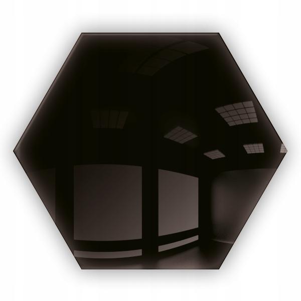 Lustro Czarne Dekoracyjne Heksagon Samoprzylepne