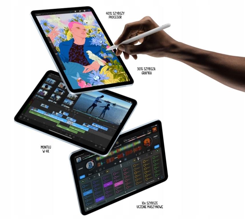 """OD RĘKI (Najnowszy) iPad Air 10.9"""" 64GB FV23% Kolor szary"""