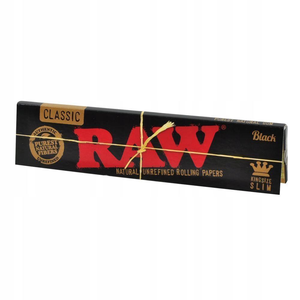 Салфетки RAW CLASSIC BLACK (king size slim)