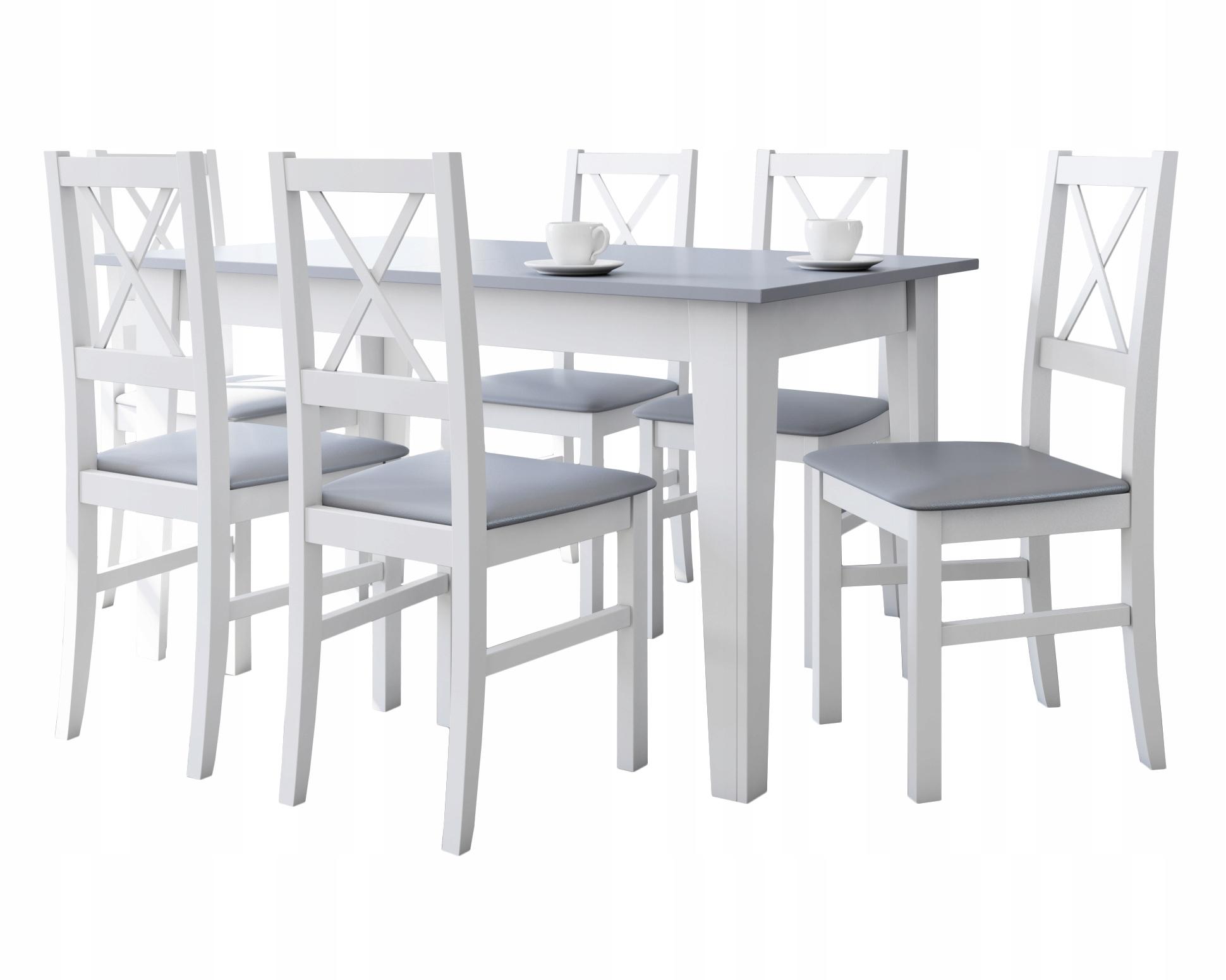 Stół rozkładany do Salonu i 6 krzeseł