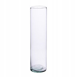 Szklany wazon cylinder H:30cm D:7cm