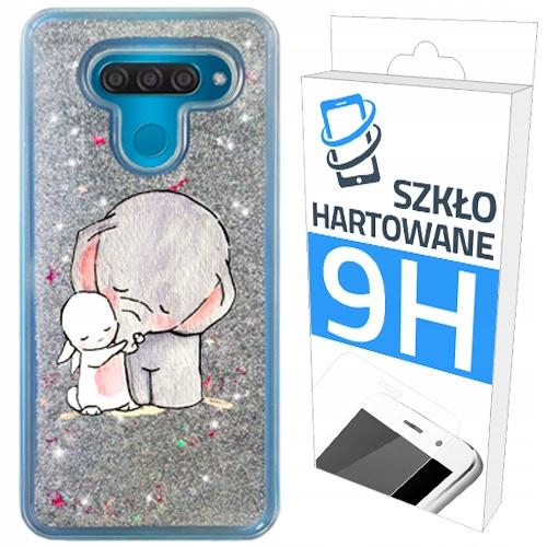 Etui Brokat+szklo Hartowane Do Lg Q60 Case Plecki