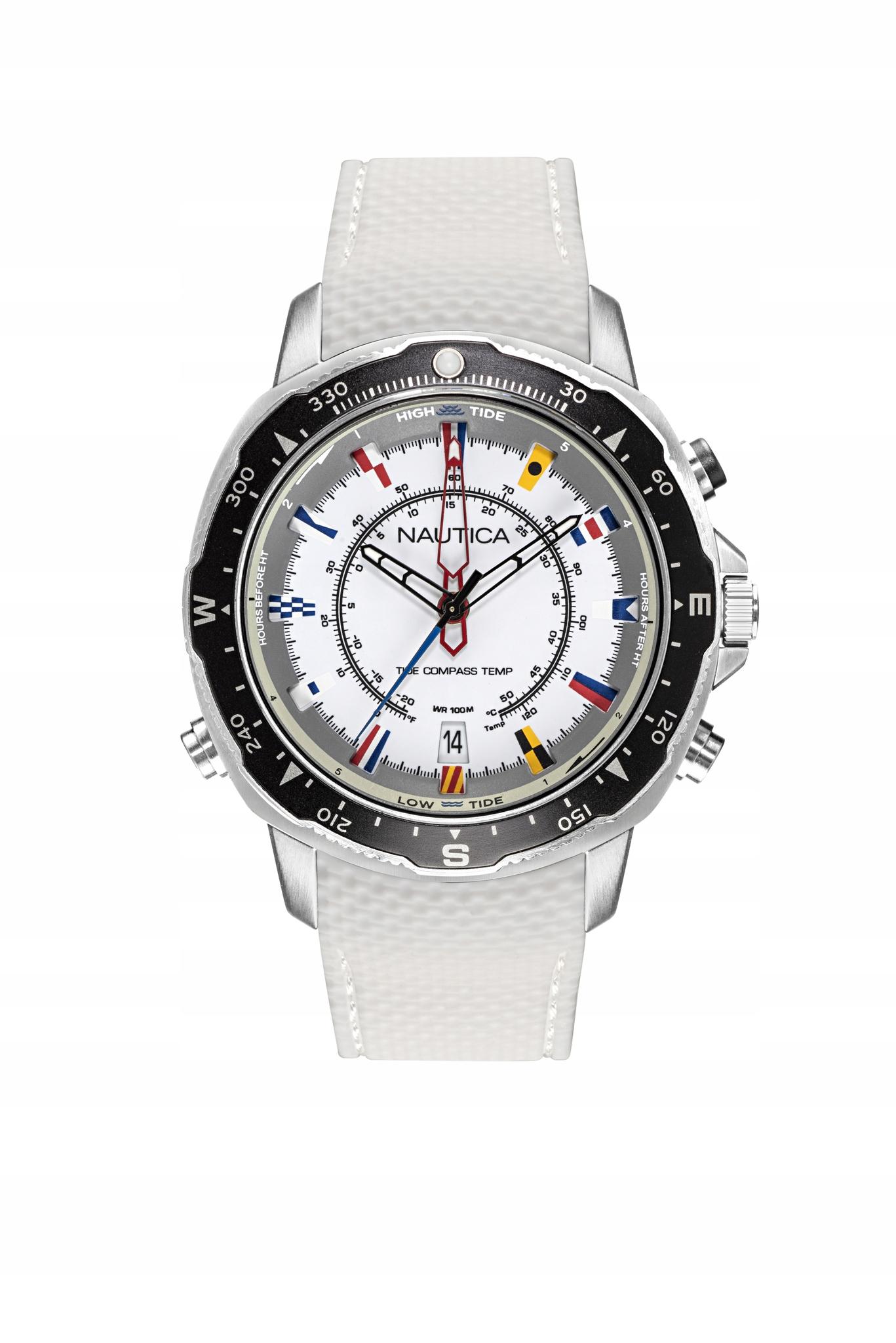 Zegarek męski na pasku termometrem kompas Nautica