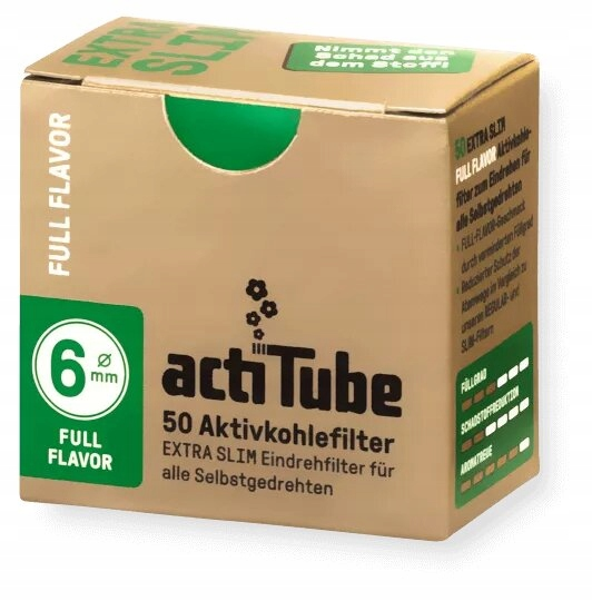 Купить Acti Tube EXTRA SLIM 50 6 мм фильтры с активированным углем на Otpravka - цены и фото - доставка из Польши и стран Европы в Украину.