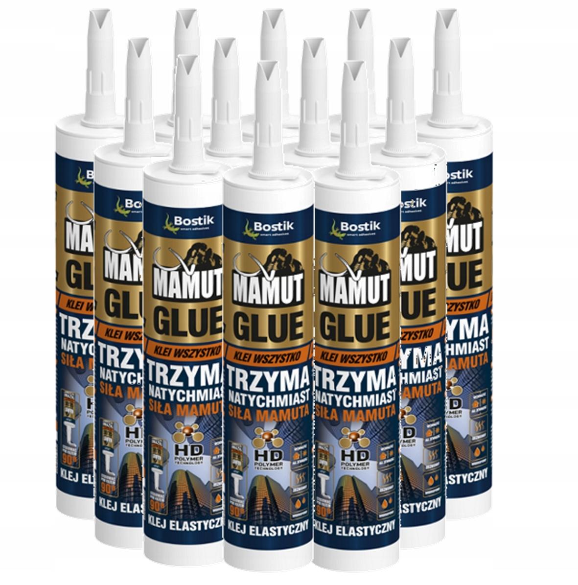Klej Montażowy MAMUT Glue BIAŁY 290ml 12szt KARTON