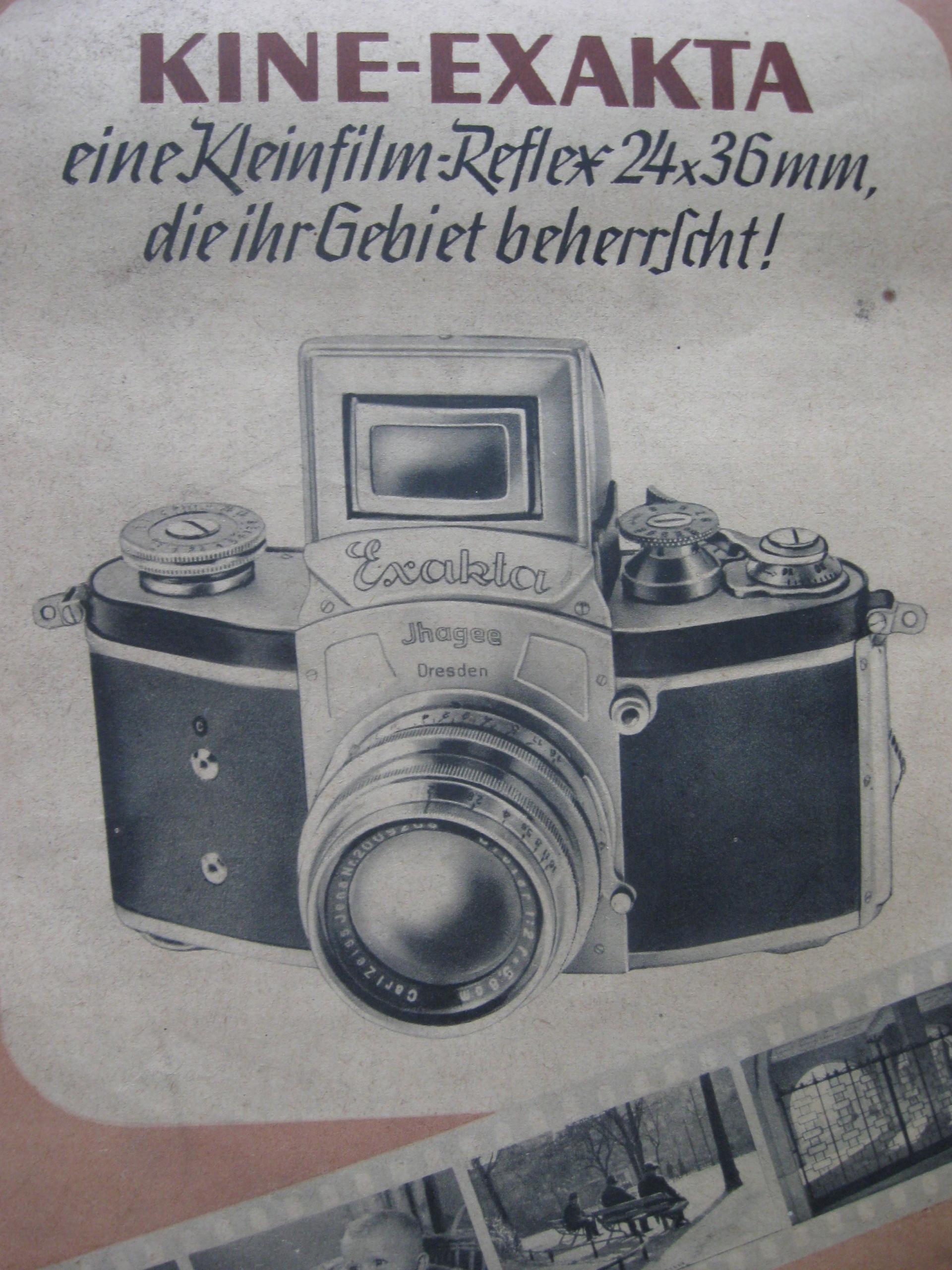 Priečinok fotoaparátu Kine Exakta 1938