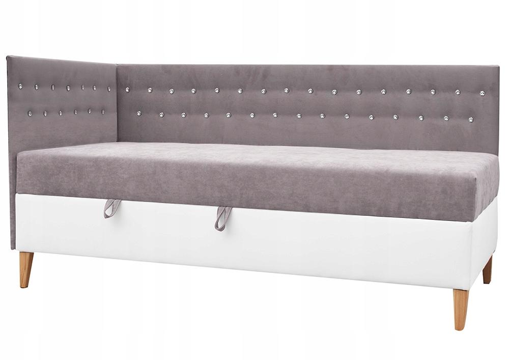 A31 INTARO mäkká posteľ 90x200 kryštály