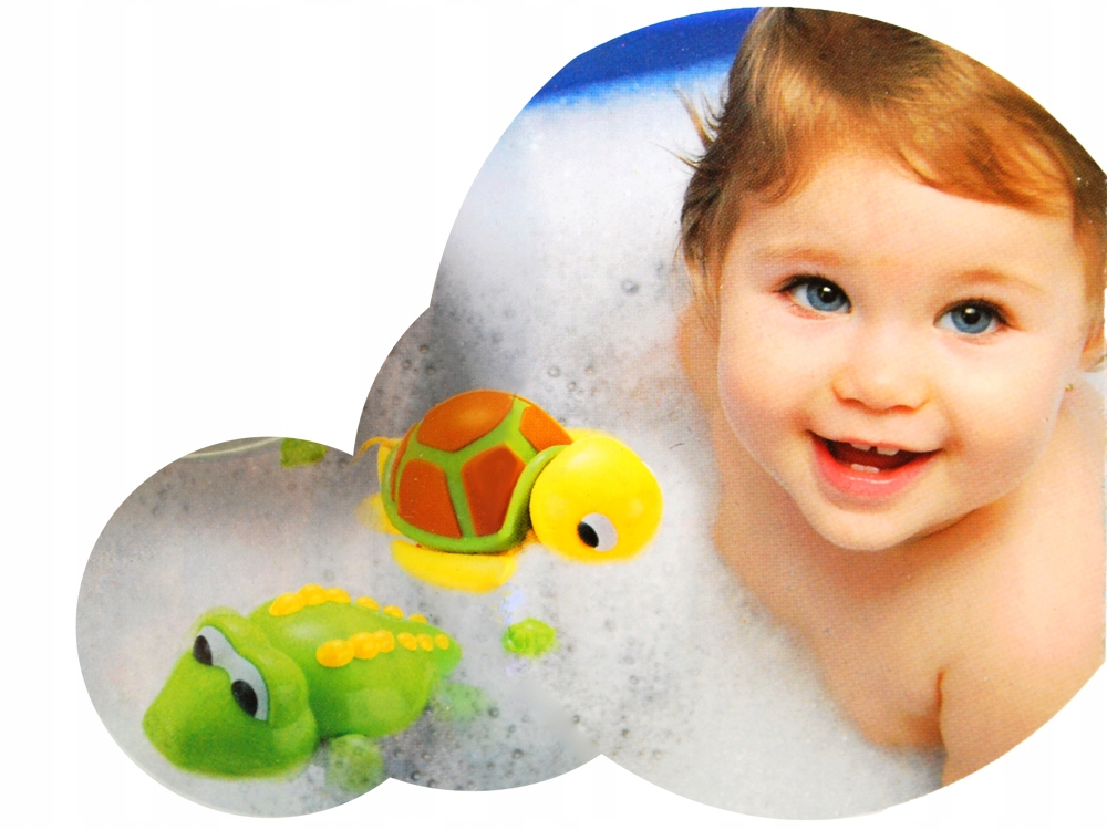 Wesoła zabawka do kąpieli ŻÓŁW, KROKODYL ZA0592 Materiał Plastik