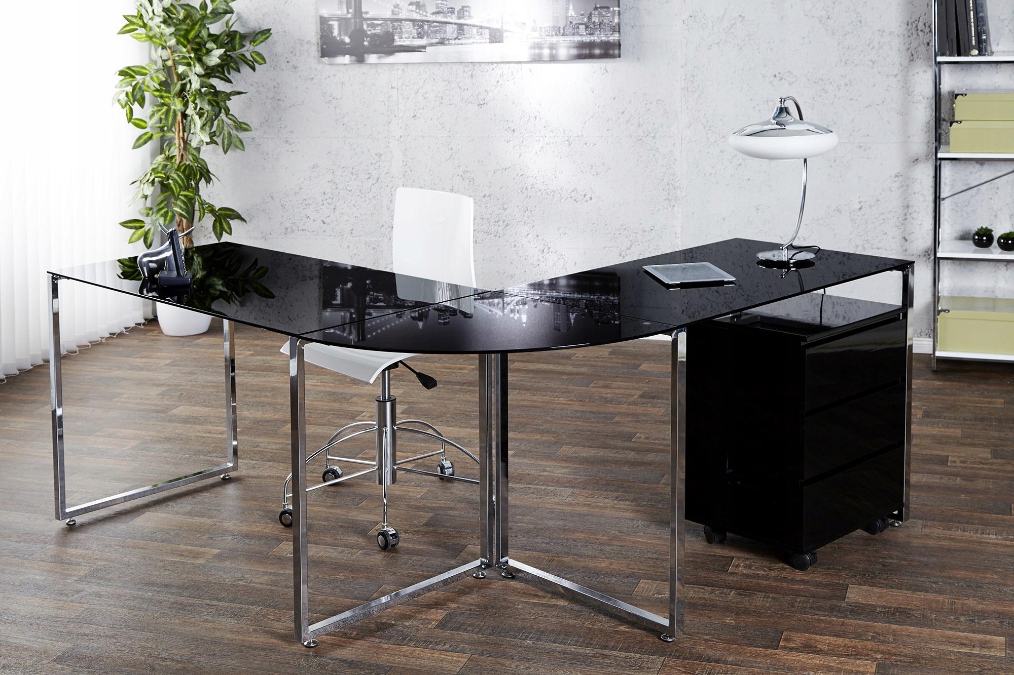 Stôl rohový black 38381 Veľký problém
