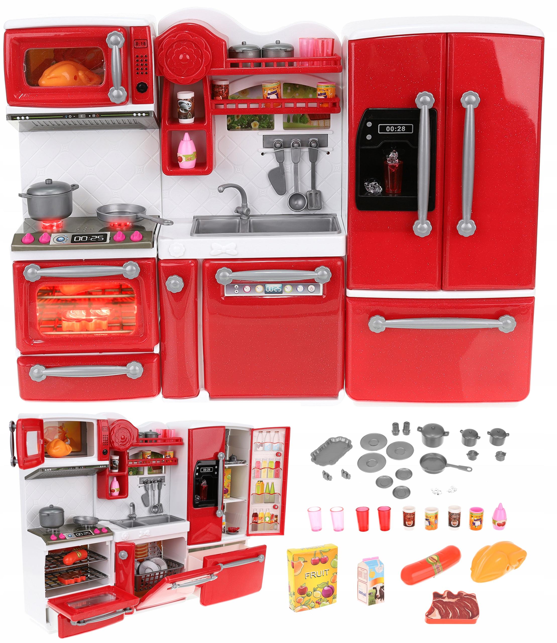 Kuchynka pre bábiky 3 moduly Nábytok pre bábiky 27 cm
