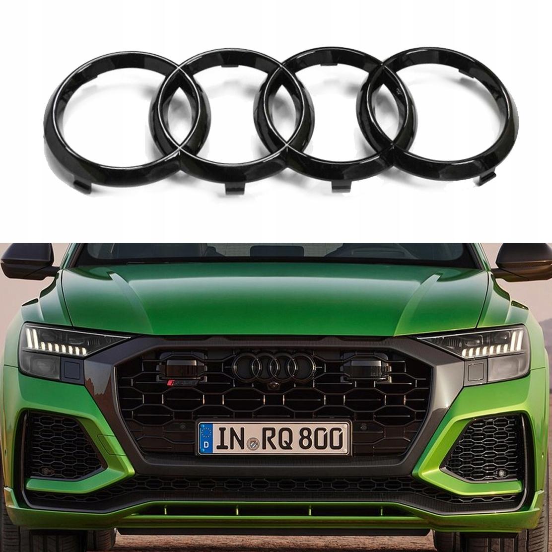 Audi эмблема черного гриля кольцо A6 A7 A8 Q2 Q8 RS