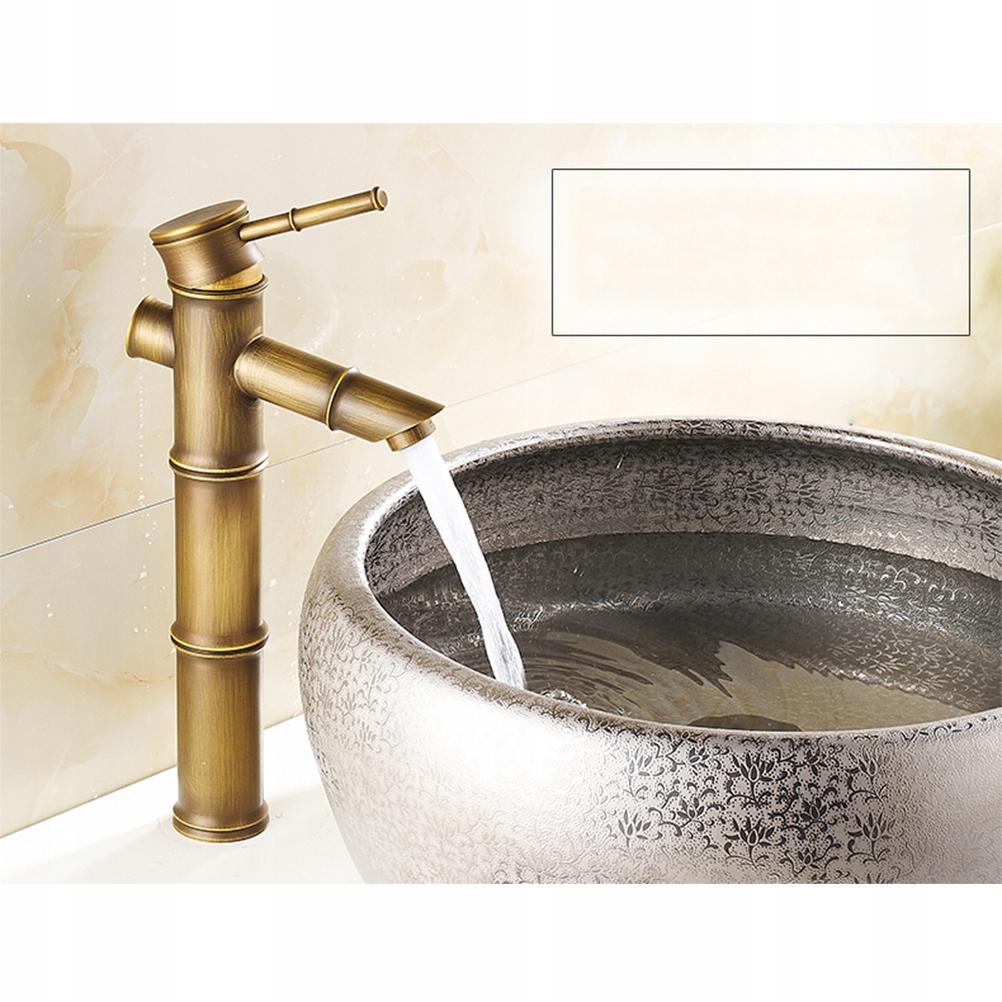 Európsky starožitný medený retro bambusový faucet