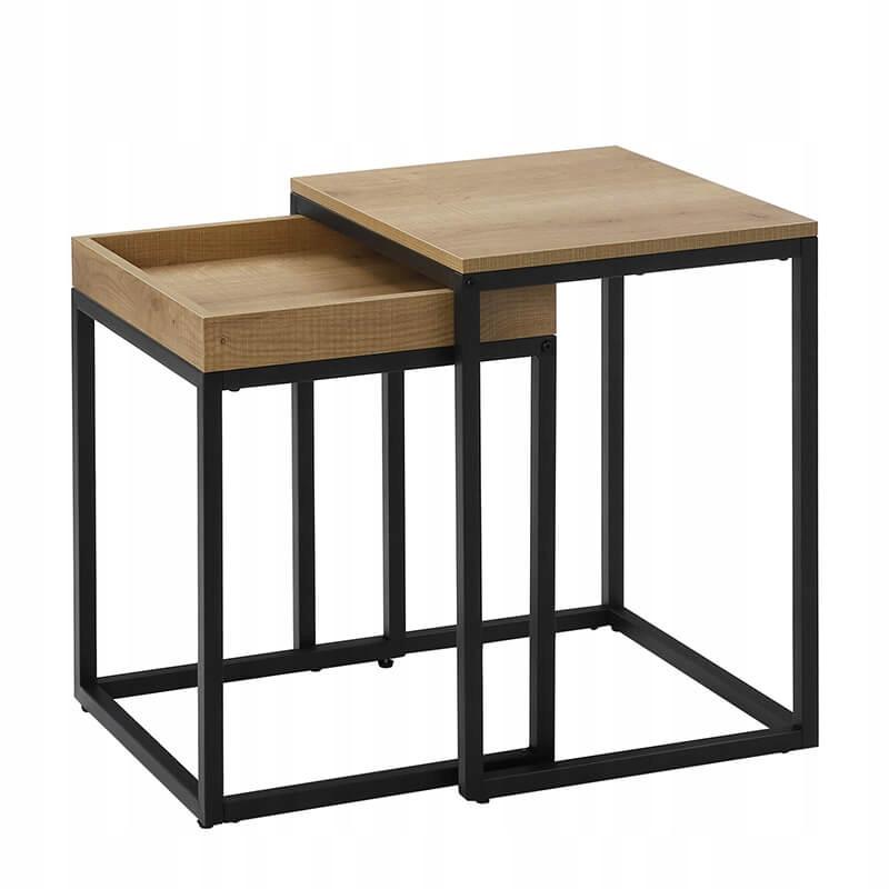 Журнальный столик из 2 частей, Industrial Brown