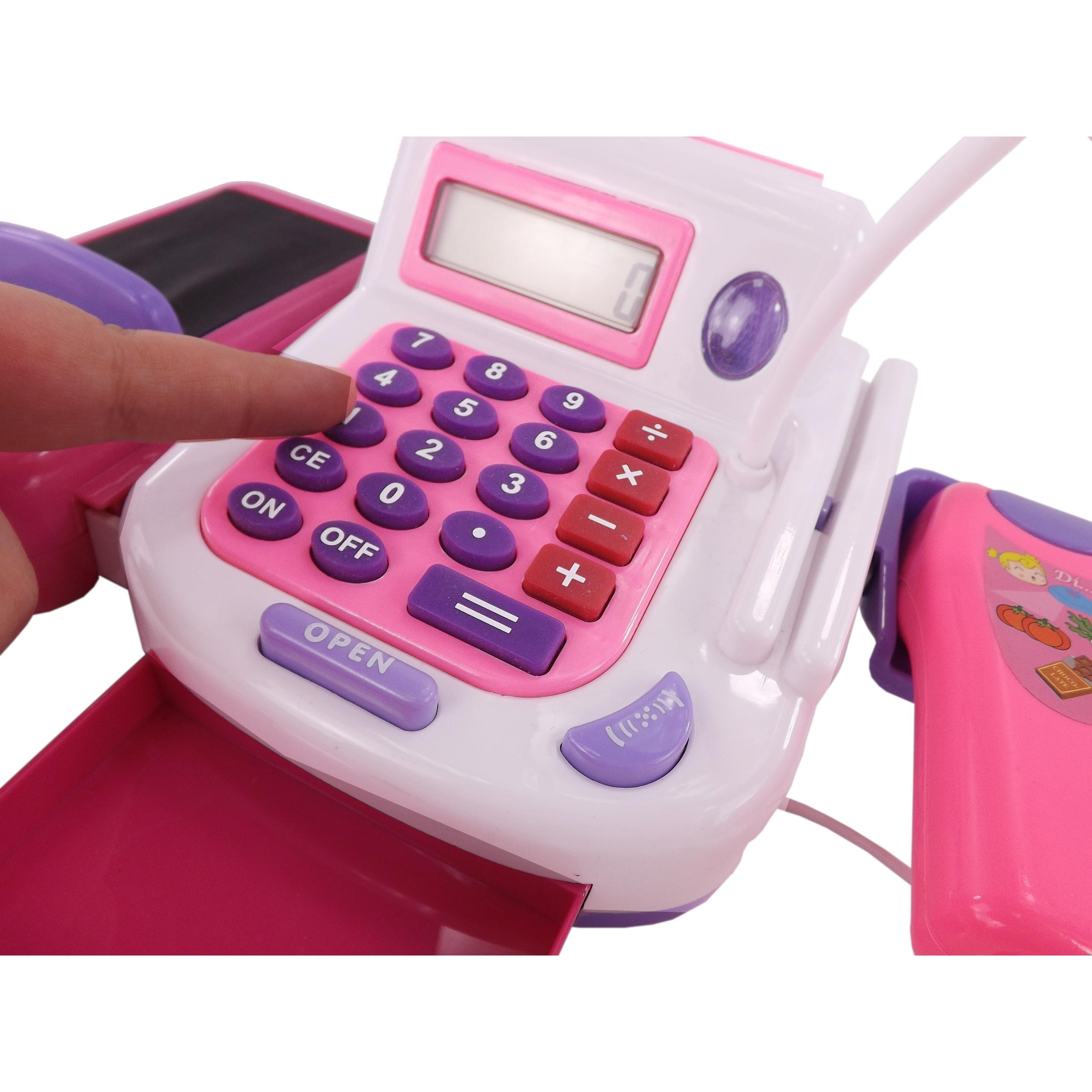 DUŻY ZESTAW ! KASA SKLEPOWA KOSZYK kalkulator 23F Waga (z opakowaniem) 1.3 kg