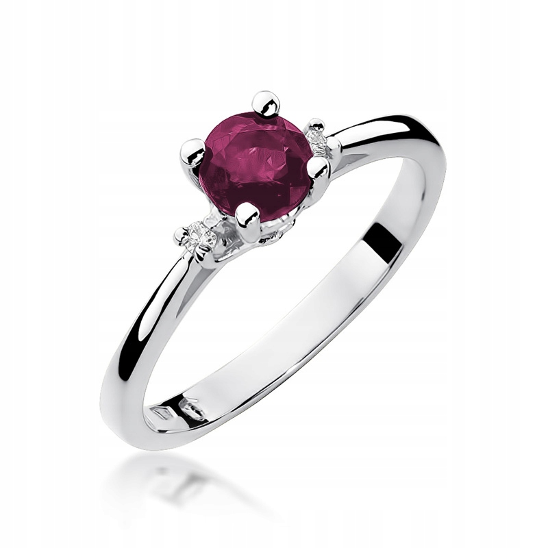 Krúžok ruby Diamanty 585 RYTEC ZADARMO