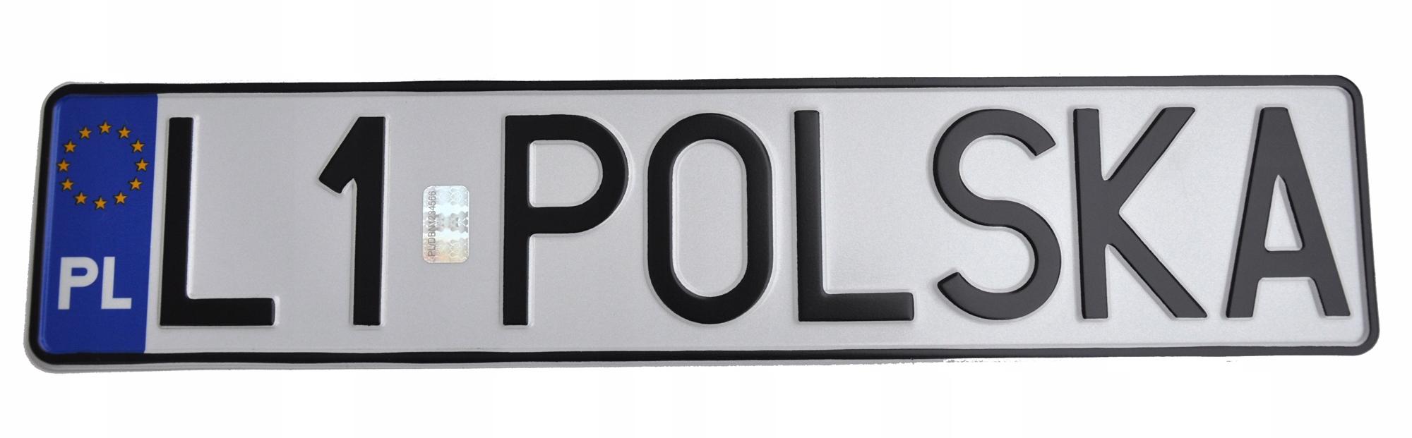 ПОЛЬША Табличка для регистрационных рамок, голограмма