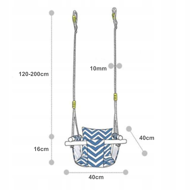 BAVLNA PREMIUM CUBE hojdačka pre deti, úchytky, nosnosť max. 30 kg
