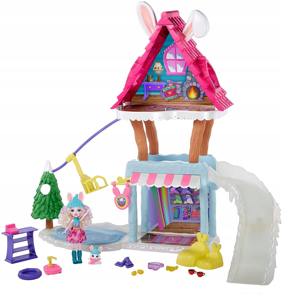 ENCHANTIMALS WINTER HOUSE HOUSE - RABBIT - GJX50