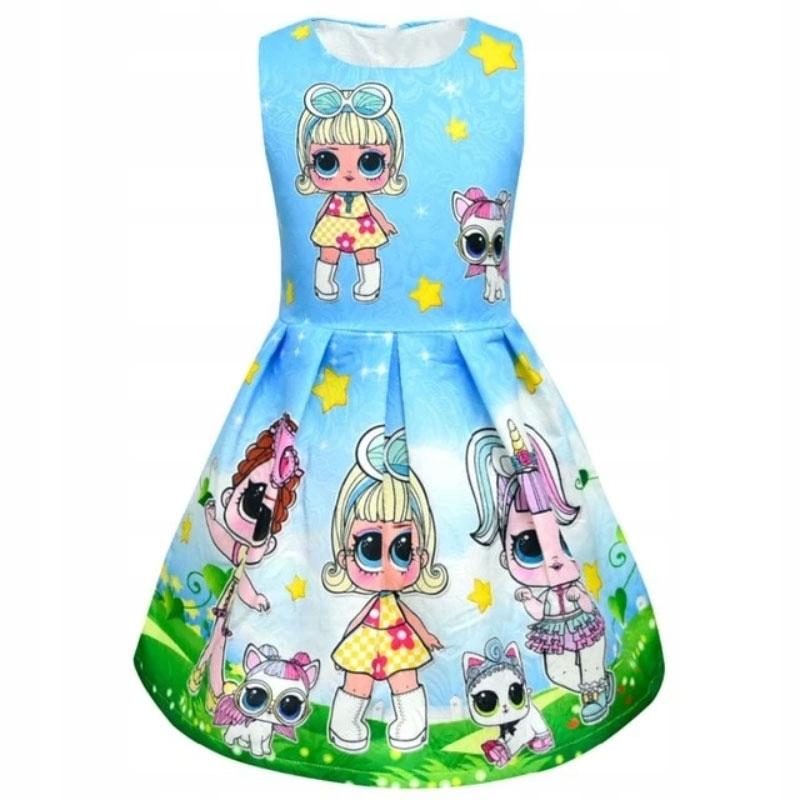 Kostým Lol Doll kostým 120-130 cm modrý
