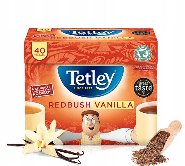 Чай Tetley Redbush Vanilla Rooibos 40шт UK