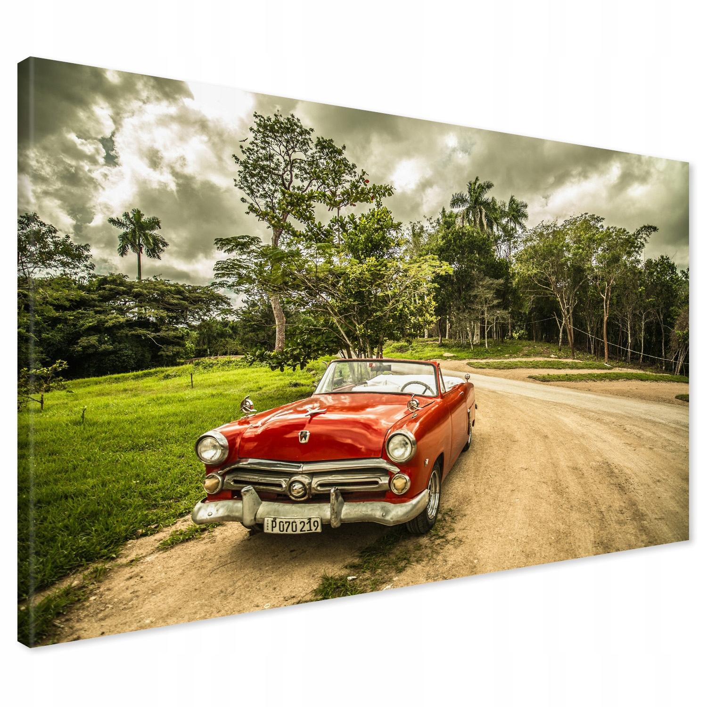 Kuba retro auto 120x80 plátno