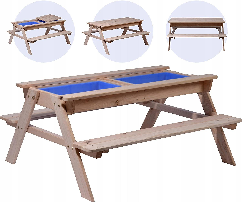 Stół i ławki Do zabawy z Pojemnikami na wodę Dobar