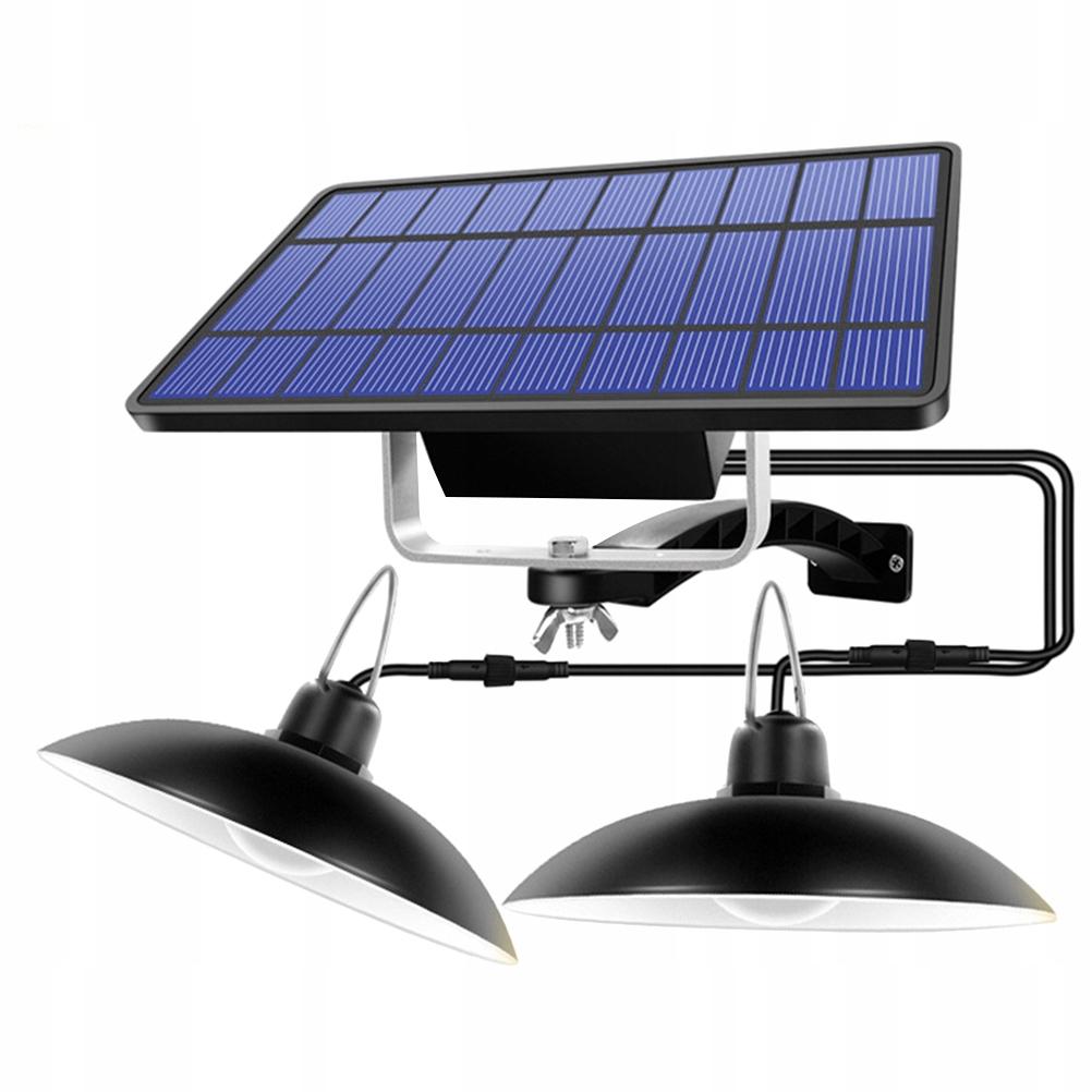 Retro solárne vonkajšie závesné svietidlo visiace la