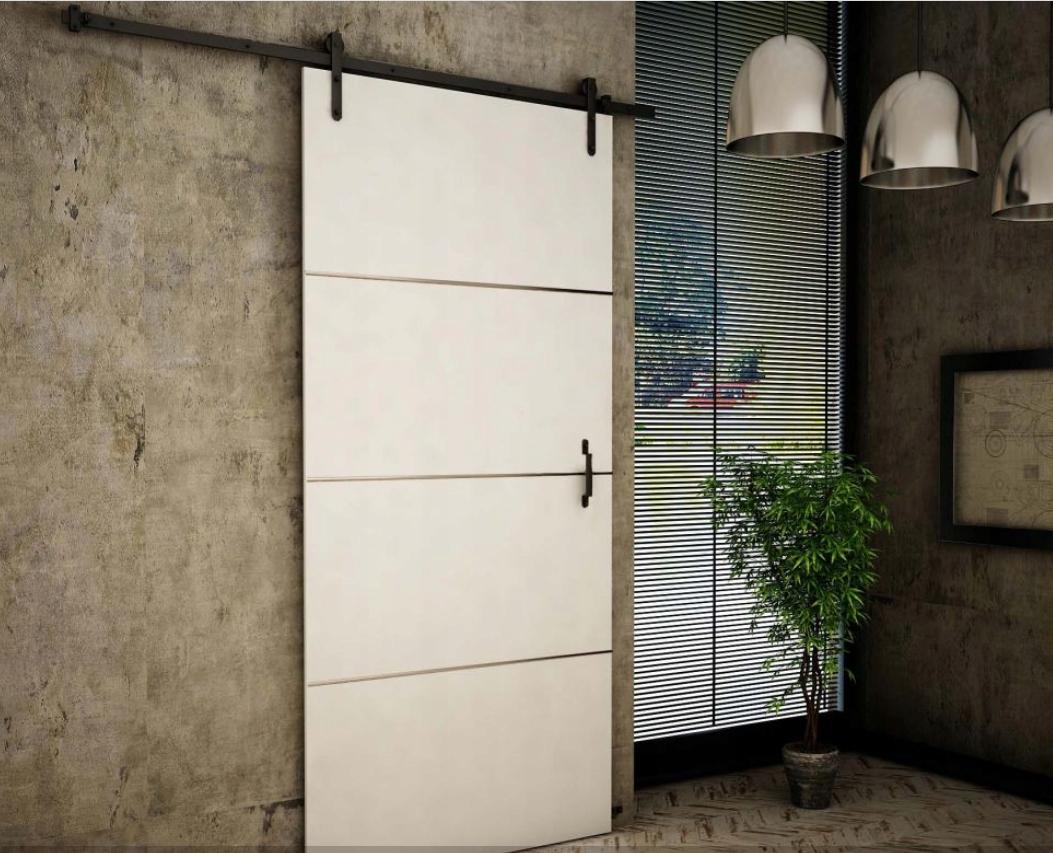 Biele retro nástenné posuvné dvere RT80 Plus