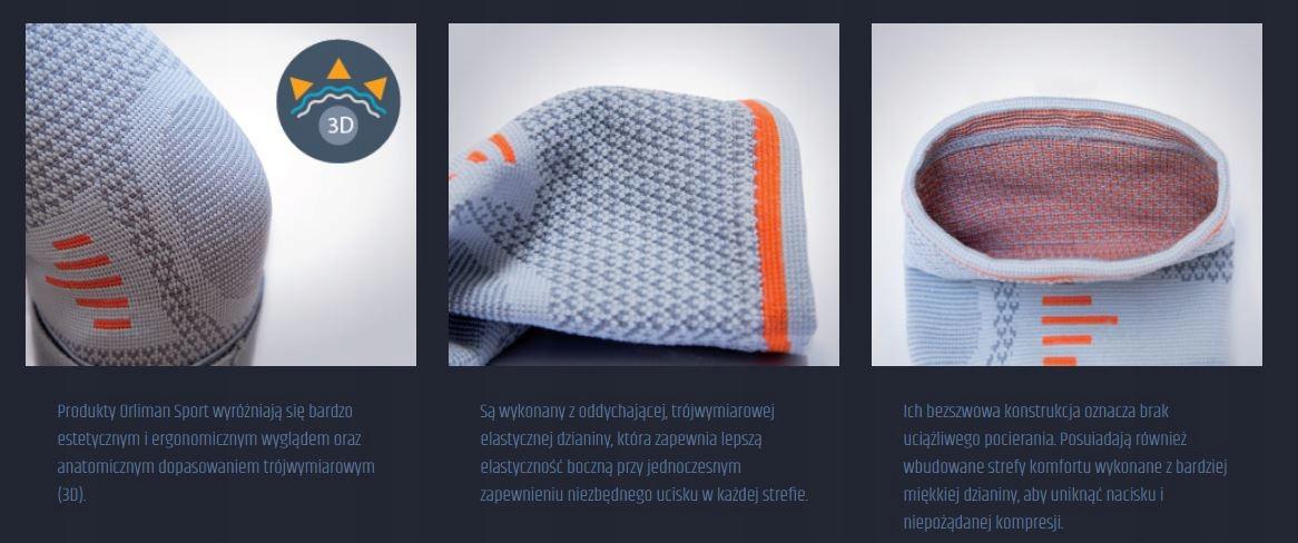 SPORTOWY STABILIZATOR OPASKA ŁYDKI ORLIMAN SPORT S Kod producenta 8435025983410