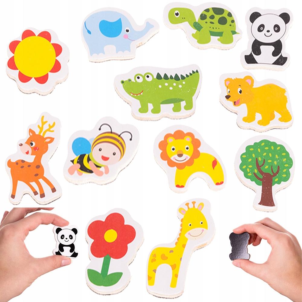 Магниты на холодильник Цветок животных для детей x 12