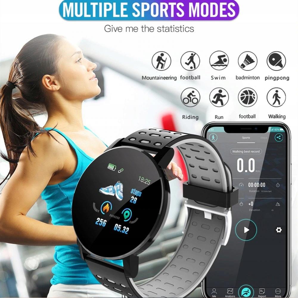Zegarek Smartwatch Bluetooth 16w1 kroki puls cykl Czujniki czujnik światła pulsometr krokomierz