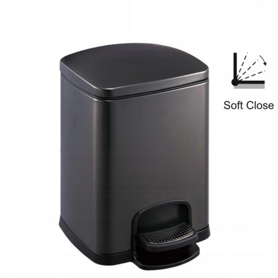 Kôš na pedále 12 L Stella čierna matná 20.20312-MB