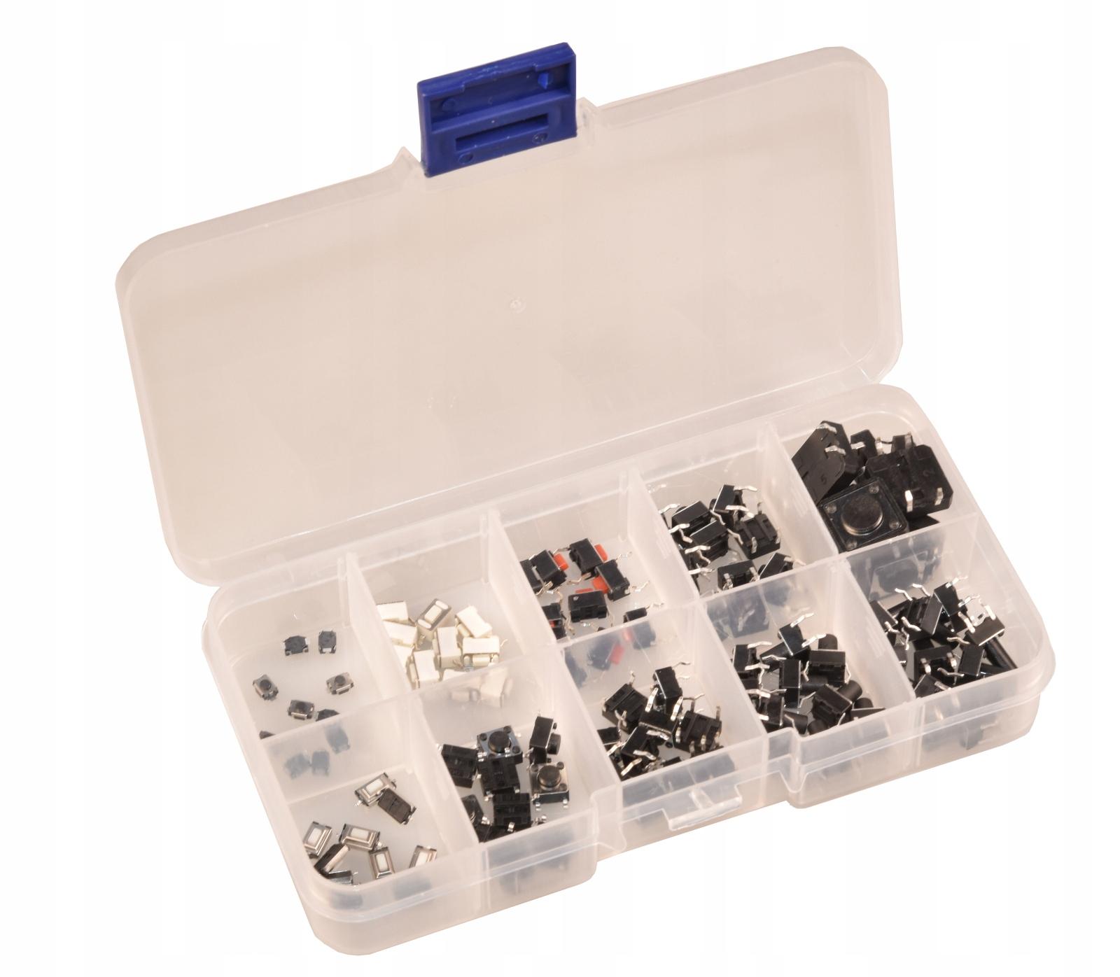 Zestaw przycisków przełączników TACT switch 100szt