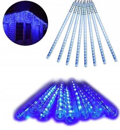 Светильники на домик, сосульки голубые, 20 см.