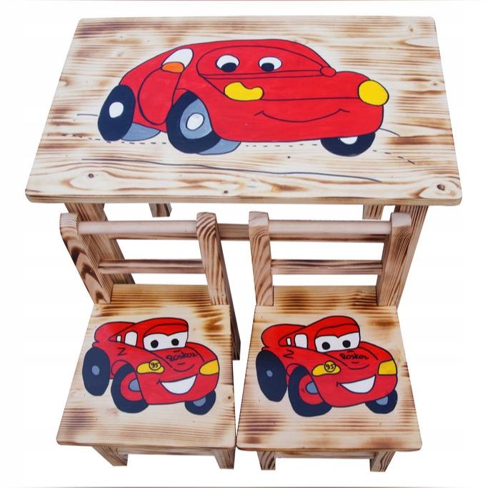 Деревянный стол + 2 стула, детский набор