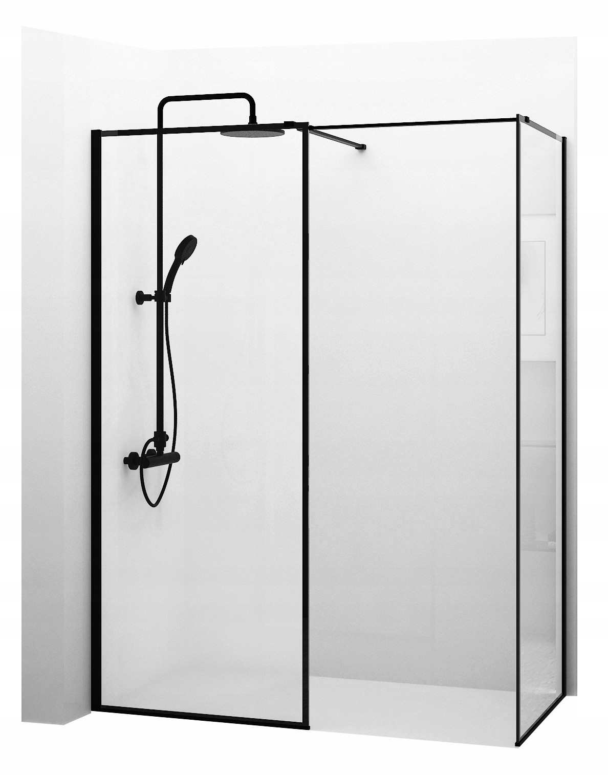 Sprchová kabína BLER Black Walk-In 70x70cm