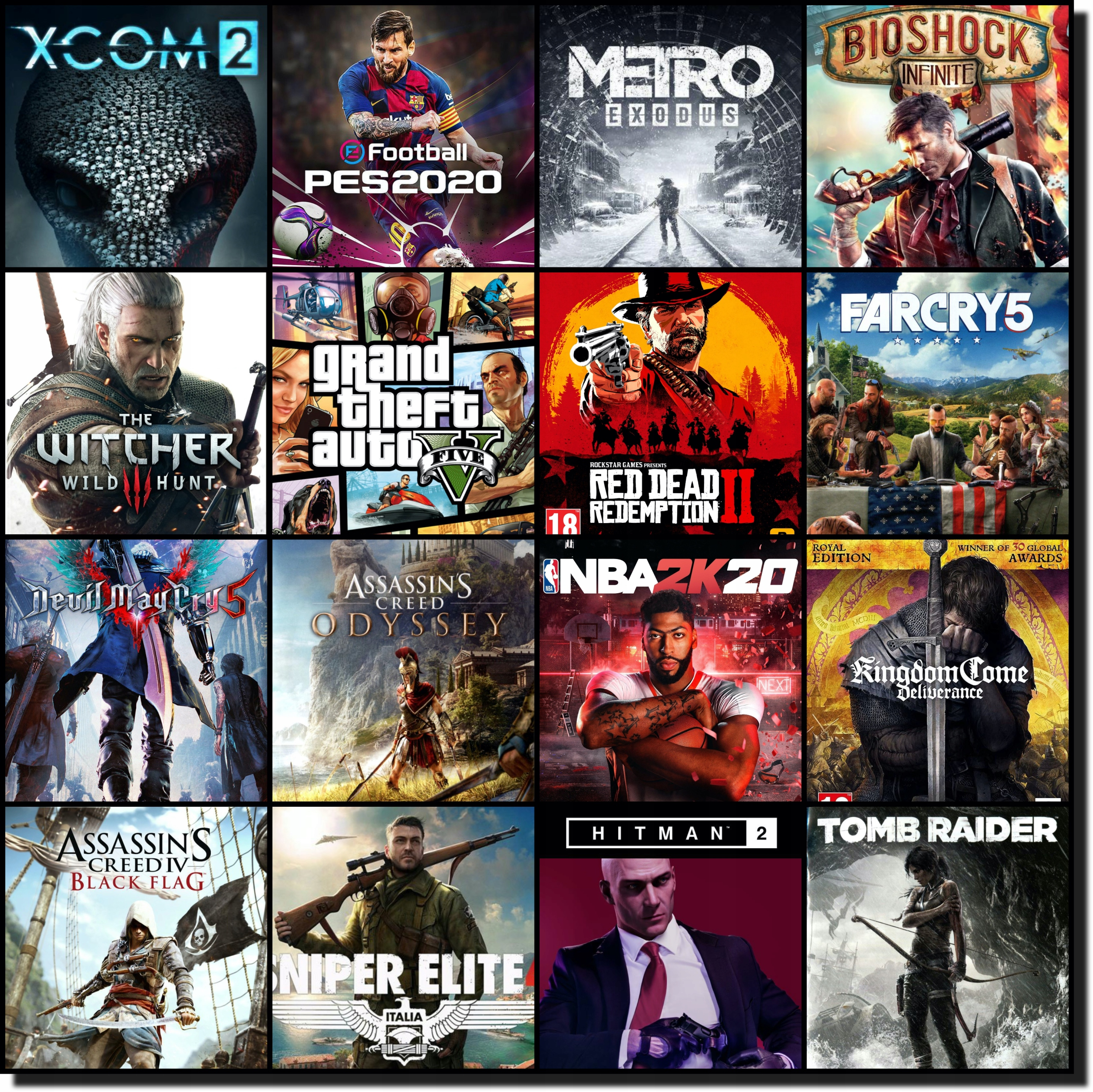 Item 300 GAMES ON STEAM HIT GTAV RDR2 ODYSSEY METRO WITCHER