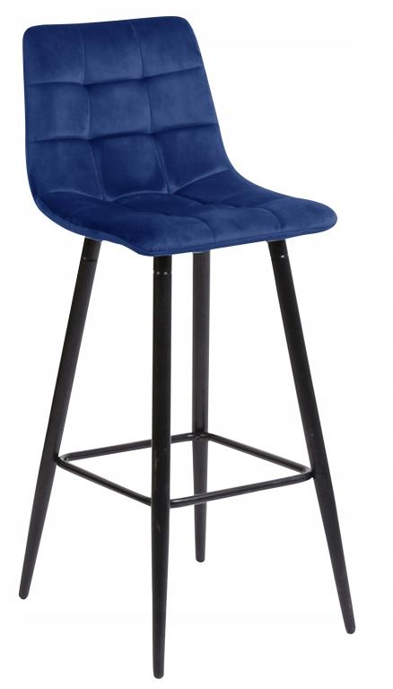 Барный стул, бархат Tore темно-синий барный стул