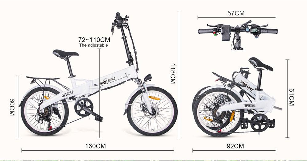 Samebike-JG20-Rower-elektryczny-250W-8Ah-Amortyzacja-brak