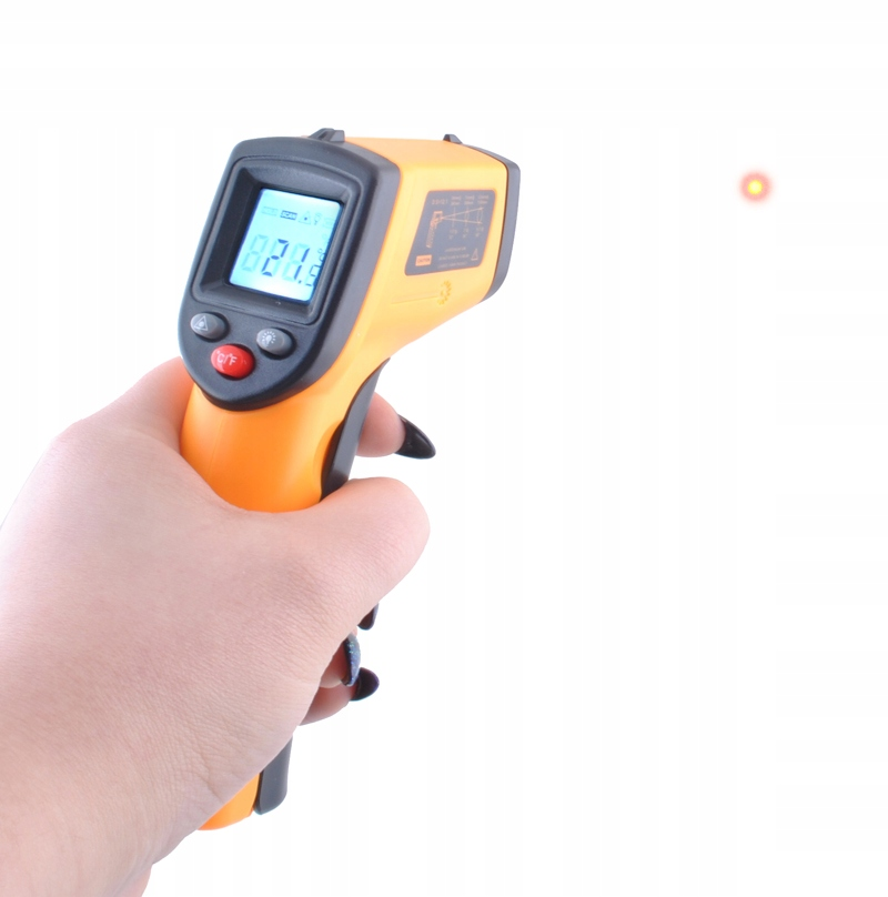 Brezkontaktni pirometer Infrardeči ukrep -50 +380 Oranžna barva