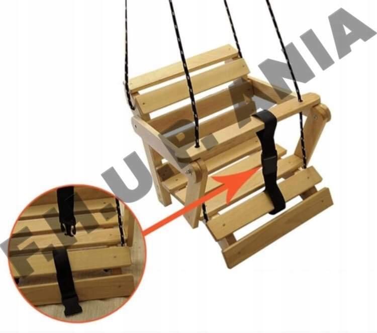 Качели Деревянные качели 5в1, раскладывающиеся естественные