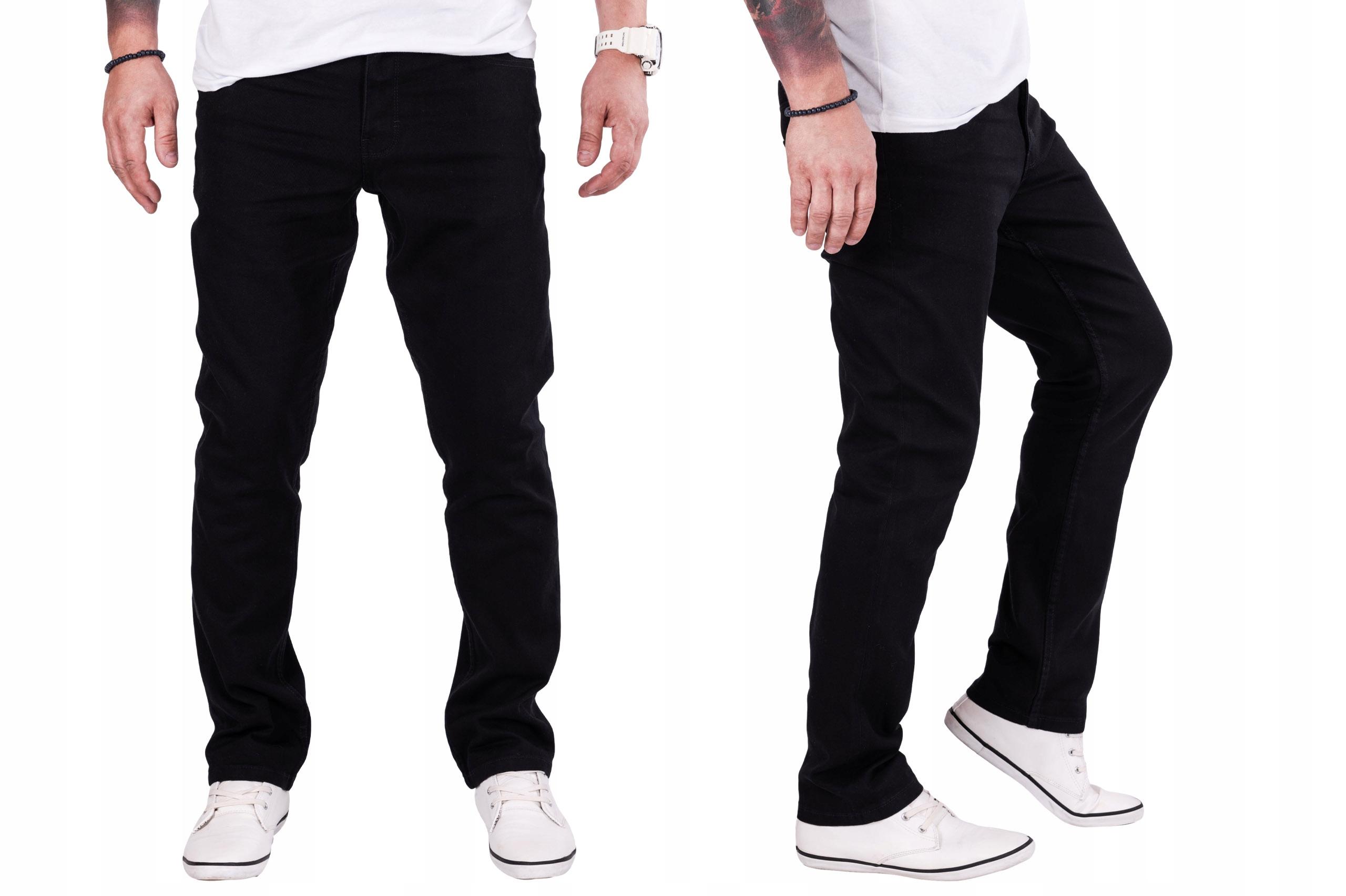 R.38/L30 Pas 100cm CZARNE spodnie klasyczne Leonel