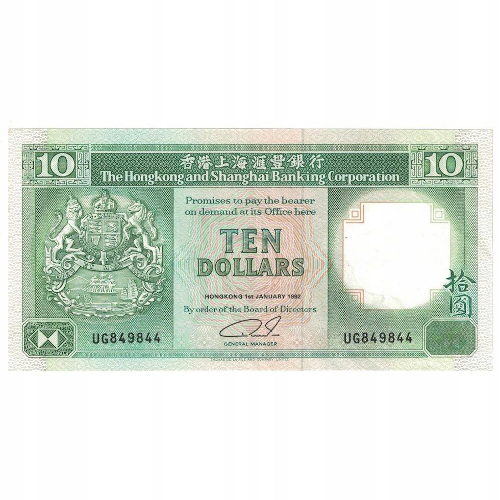 Банкнота, Гонконг, 10 долларов, 1992 г., 1 января 1992 г.,