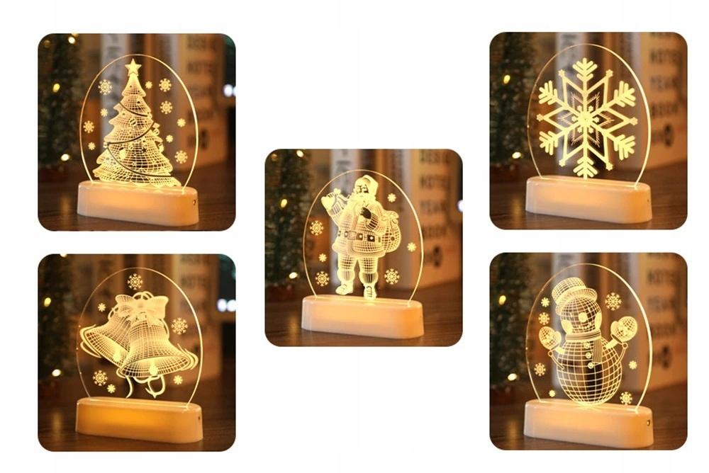 LED 3D новогоднее украшение