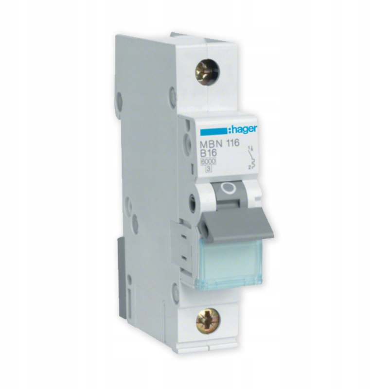 HAGER Однофазный автоматический выключатель 1П B10A MBN110