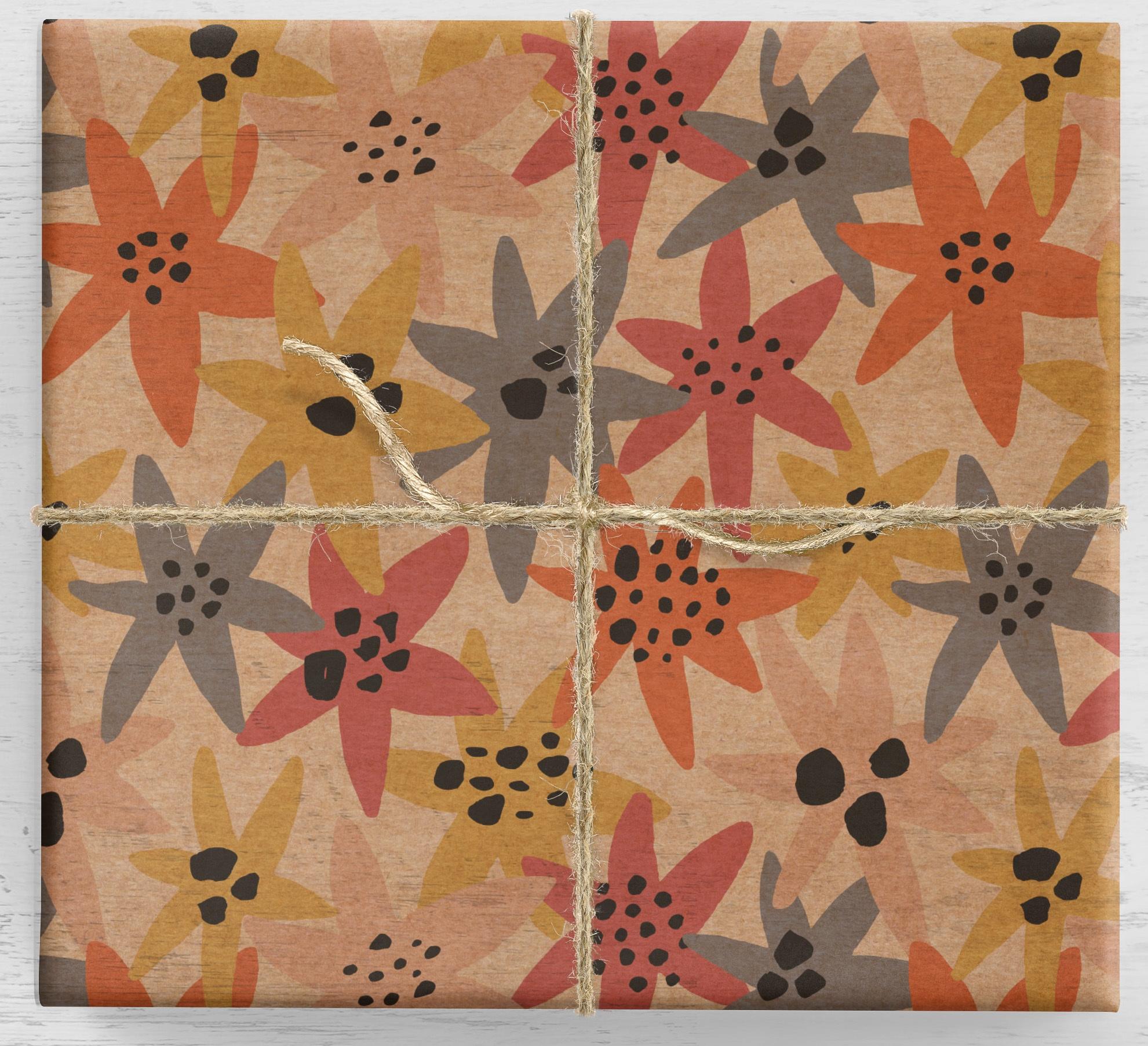 Farebné sedmokrásky darčekový baliaci papier