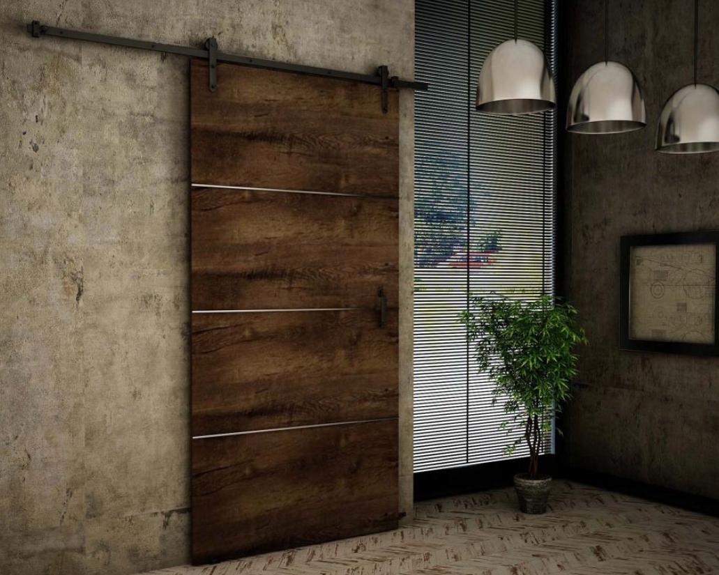 Nástenné posuvné dvere Dark Ash RT90 Plus