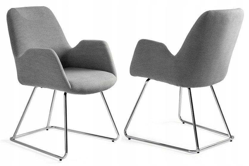 Konferenčné stoličky v sivej płozie MESTO Jedinečný